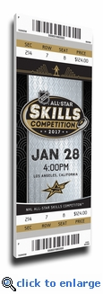 2017 NHL All-Star Game Skills Competition Canvas Mega Ticket - Los Angeles Kings