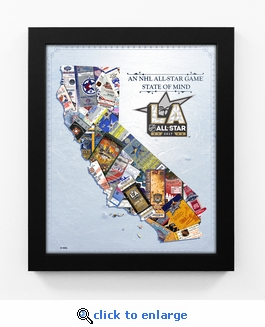 2017 NHL All-Star Game State of Mind Framed Print - Los Angeles Kings