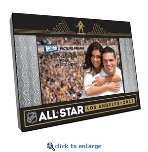 2017 NHL All-Star Game Black Wood Edge 4x6 inch Picture Frame - Los Angeles Kings