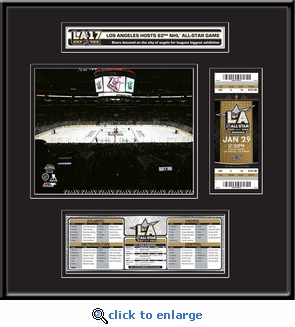 2017 NHL All-Star Game Ticket Frame Jr - Los Angeles Kings