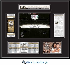 2017 NHL All-Star Game Ticket Frame - Los Angeles Kings