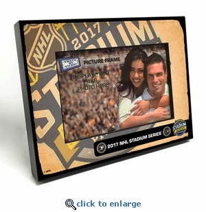 2017 NHL Stadium Series 4x6-inch Black Wood Edge Picture Frame - Flyers vs Penguins
