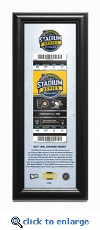 2017 NHL Stadium Series Framed Ticket Print - Flyers vs Penguins