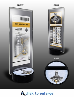 2017 NHL Stanley Cup Champions Commemorative Ticket Stand - Pittsburgh Penguins