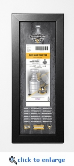 2017 NHL Stanley Cup Champions Framed Ticket Print - Pittsburgh Penguins