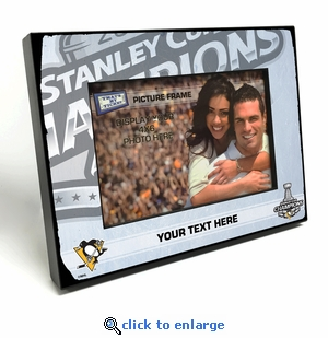 2017 NHL Stanley Cup Champions Personalized 4x6-inch Picture Frame - Pittsburgh Penguins