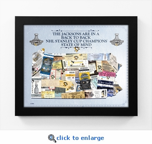 2017 NHL Stanley Cup Champions Personalized State of Mind Framed Print - Pittsburgh Penguins