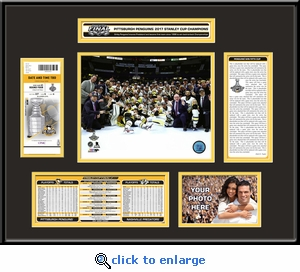 2017 NHL Stanley Cup Champions Ticket Frame�- Pittsburgh Penguins