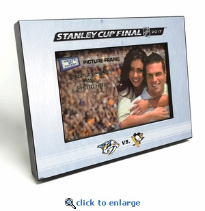 2017 NHL Stanley Cup Final 4x6-inch Picture Frame - Predators vs Penguins
