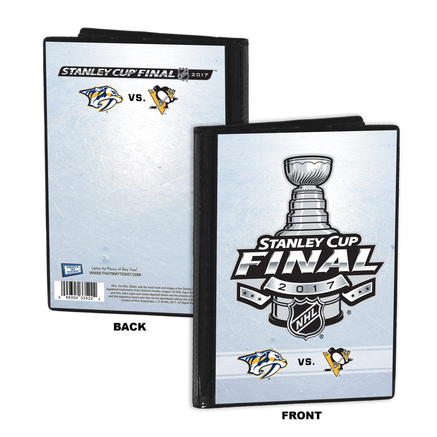 2017 nhl stanley cup champions 4x6 inch picture frame pittsburgh 2017 nhl stanley cup final 4x6 photo album brag book predators vs penguins jeuxipadfo Choice Image