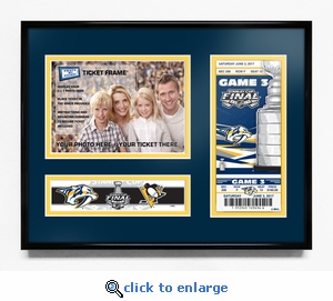 2017 NHL Stanley Cup Final 5x7 Photo & Commemorative�Ticket Frame - Nashville Predators