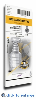 2017 NHL Stanley Cup Final Game 2 Canvas Mega Ticket - Pittsburgh Penguins