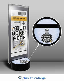2017 NHL Stanley Cup Final Hockey Puck Ticket Stand - Predators vs Penguins