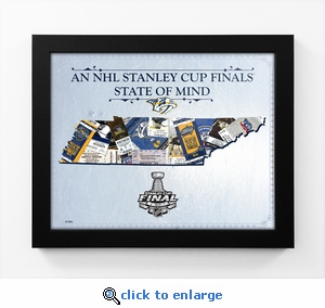 2017 NHL Stanley Cup Final State of Mind Framed Print - Nashville Predators