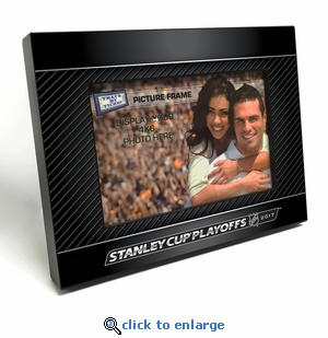 2017 NHL Stanley Cup Playoffs 4x6-inch Black Wood Edge Picture Frame