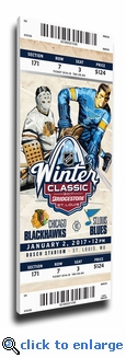 2017 NHL Winter Classic Canvas Mega Ticket - Blackhawks vs Blues