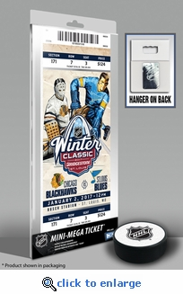 2017 NHL Winter Classic Mini-Mega Ticket - Blackhawks vs Blues