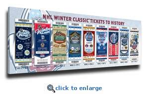 2017 NHL Winter Classic Tickets to History Canvas Print - Blackhawks vs Blues