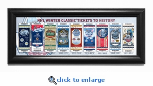 2017 NHL Winter Classic Tickets to History Framed Print - Blackhawks vs Blues