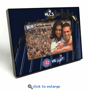 2017 NLCS 4x6 Black Wood Edge Picture Frame - Cubs vs Dodgers