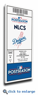2017 NLCS Canvas Mega Ticket - Los Angeles Dodgers