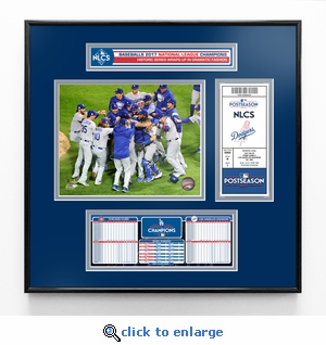 2017 NLCS Champions Ticket Frame Jr - Los Angeles Dodgers