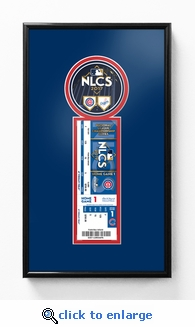 2017 NLCS Single Ticket Frame - Chicago Cubs