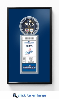 2017 NLCS Single Ticket Frame - Los Angeles Dodgers