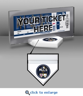 2017 NLCS Ticket Display Stand - Cubs vs Dodgers