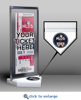 2017 NLDS Ticket Display Stand - Cubs vs Nationals