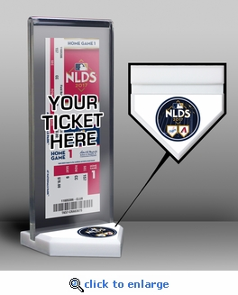 2017 NLDS Ticket Display Stand - Diamondbacks vs Dodgers