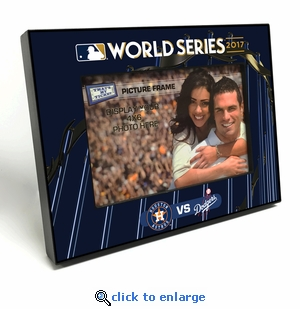 2017 World Series 4x6 Black Wood Edge Picture Frame