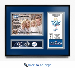 2017 World Series 5x7 Photo Ticket Frame - Los Angeles Dodgers