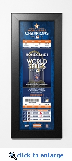 2017 World Series Champions Framed Ticket Print - Houston Astros