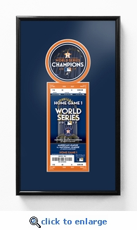 2017 World Series Champions Single Ticket Frame - Houston Astros