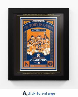 2017 World Series Champions Sports Propaganda Framed 13x16 Digital Print - Houston Astros