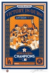 2017 World Series Champions Sports Propaganda Handmade LE Serigraph - Houston Astros