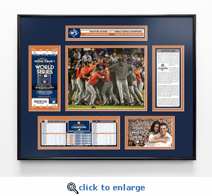 2017 World Series Champions Ticket Frame - Houston Astros