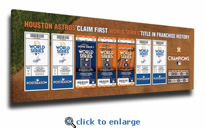 2017 World Series Champions Tickets to History Canvas Print - Houston Astros