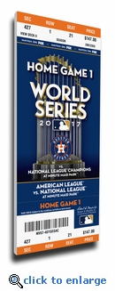 2017 World Series Houston Astros Game 3 (Home Game 1) Canvas Mega Ticket