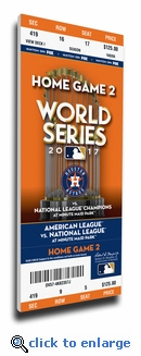 2017 World Series Houston Astros Game 4 (Home Game 2) Canvas Mega Ticket