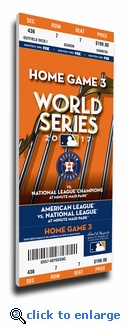 2017 World Series Houston Astros Game 5 (Home Game 3) Canvas Mega Ticket