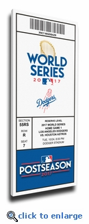 2017 World Series Los Angeles Dodgers Game 1 (Home Game 1) Canvas Mega Ticket