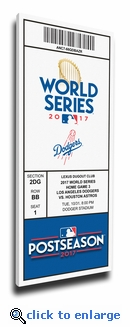 2017 World Series Los Angeles Dodgers Game 6 (Home Game 3) Canvas Mega Ticket