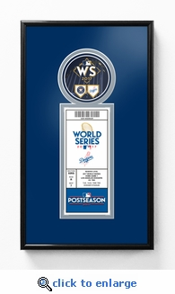 2017 World Series Single Ticket Frame - Los Angeles Dodgers