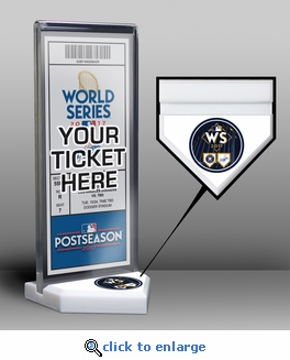 2017 World Series Ticket Display Stand - Astros vs Dodgers