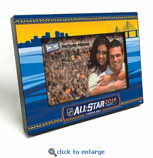 2018 NHL All-Star Game Black Wood Edge 4x6 inch Picture Frame - Tampa Bay Lightning