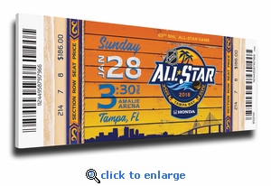 2018 NHL All-Star Game Canvas Mega Ticket - Tampa Bay Lightning