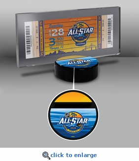 2018 NHL All-Star Game Hockey Puck Ticket Display Stand - Tampa Bay Lightning