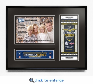 2018 NHL Stadium Series 5x7 Photo Ticket Frame - Maple Leafs vs Capitals